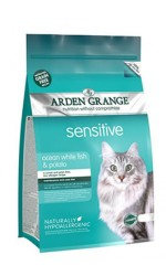 NEW Arden Grange  ADULT CAT SENSITIVE Ocean White Fish and Potato - grain free recipe